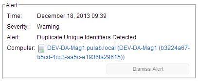 Deep Security: Duplicate Unique Identifiers Detected |