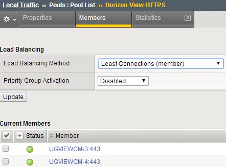 Horizon View 6: load balancing using BIG-IP F5 (without iApp)  