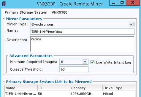 EMC MirrorView configuration on the EMC VNX arrays   