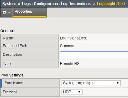 VMware Log Insight – BIG-IP F5 Management Pack  