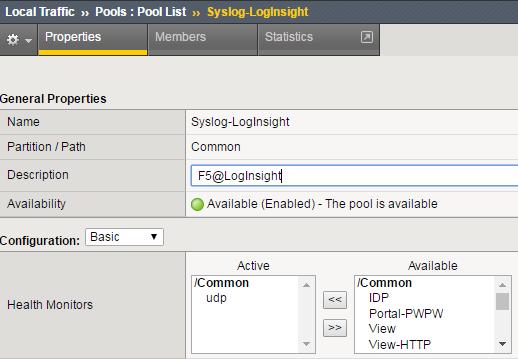 VMware Log Insight – BIG-IP F5 Management Pack |