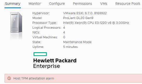 Configuration of TPM 2 0 in vSphere 6 7 |