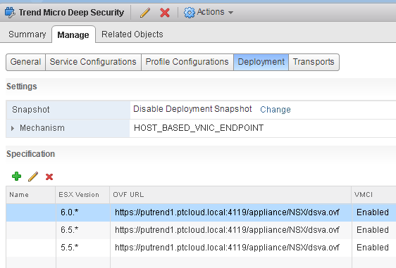 Upgrade Trend Micro Deep Security in vSphere 6 7 i NSX 6 4